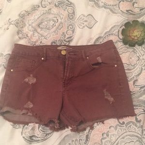 Refuge distressed denim shorts